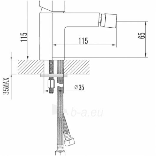 Maišytuvas bidė COLUMBIA C1120 Paveikslėlis 1 iš 2 270724000091