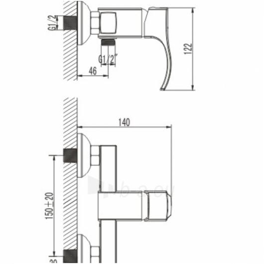Maišytuvas dušui FAGO FA6040 Paveikslėlis 1 iš 2 270721000281