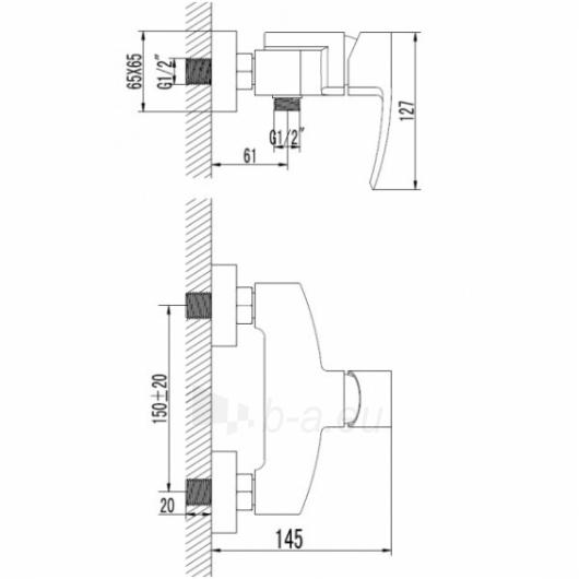 Maišytuvas dušui MURRAY MU6140 Paveikslėlis 1 iš 2 270721000283