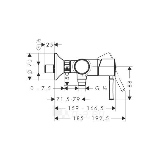 Maišytuvas dušui Talis Classic 14161000 Paveikslėlis 2 iš 2 270721000285