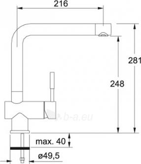 Maišytuvas FRANKE BAT 370-1 Grafitas Paveikslėlis 2 iš 2 271511000014