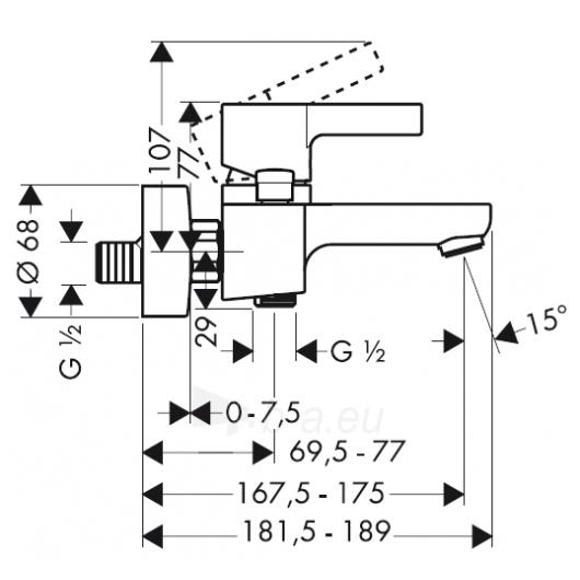 Maišytuvas voniai Hansgrohe Metris S 31460000 Paveikslėlis 2 iš 2 270725000268