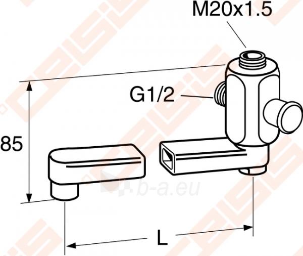 Maišytuvo snapas GUSTAVSBERG pasukamas su diverteriu 250 mm Paveikslėlis 1 iš 1 270717001077