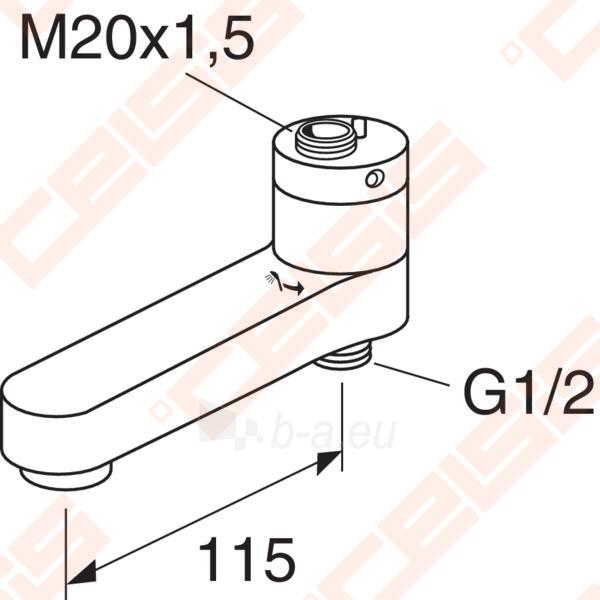 Maišytuvo snapas GUSTAVSBERG su integruotu diverteriu 115 mm Paveikslėlis 2 iš 2 270717001079