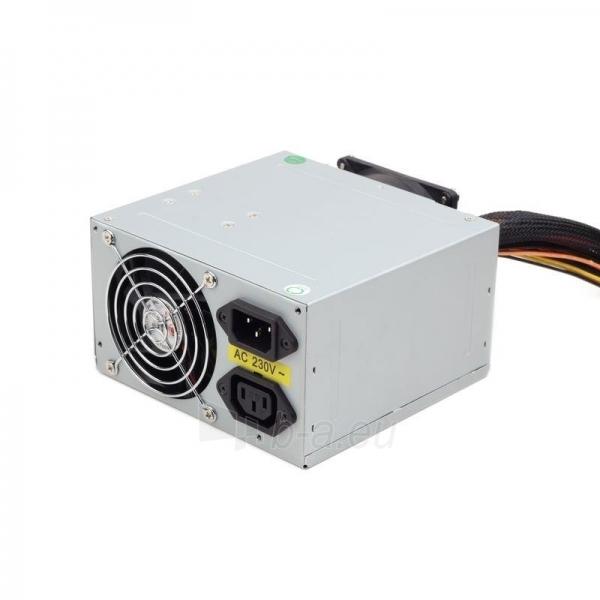 PSU Gembird ATX 500W low noise, dual fan, versija BOX+ kabelis Paveikslėlis 1 iš 3 250255010572