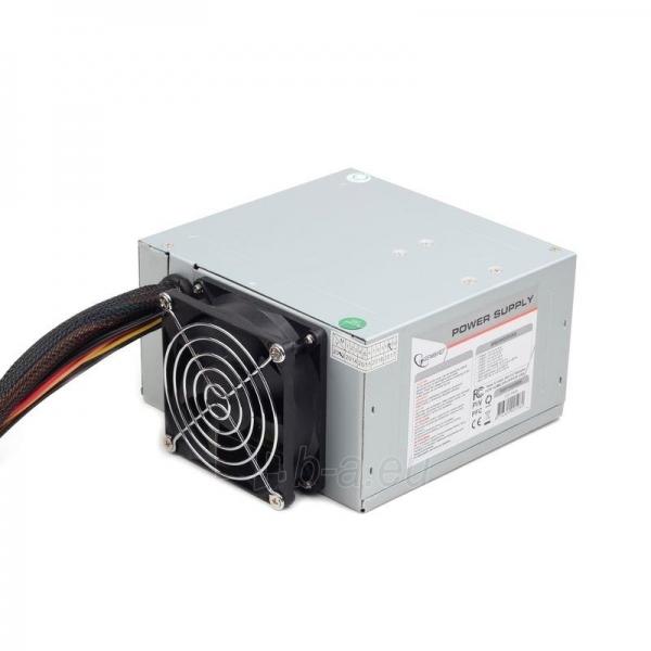 PSU Gembird ATX 500W low noise, dual fan, versija BOX+ kabelis Paveikslėlis 3 iš 3 250255010572