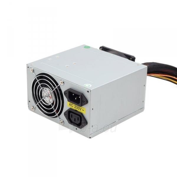 PSU Gembird ATX 550W low noise, dual fan, versija BOX+ kabelis Paveikslėlis 1 iš 3 250255010574