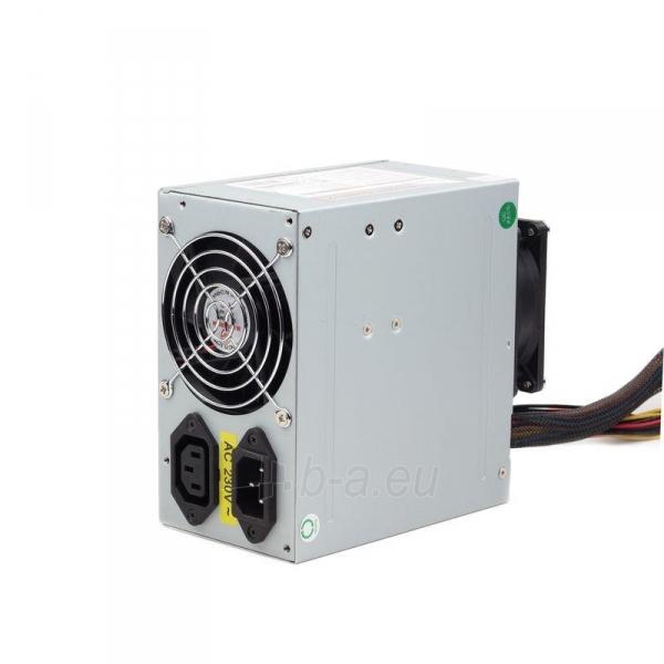 PSU Gembird ATX 550W low noise, dual fan, versija BOX+ kabelis Paveikslėlis 2 iš 3 250255010574