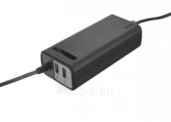 Maitinimo šaltinis TRUST DUO 70W LT CHRG W/2 USB Paveikslėlis 2 iš 2 310820027415