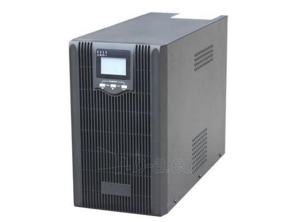 Maitinimo šaltinis UPS Energenie by Gembird 2000VA, Pure sine, 4x IEC 230V OUT, USB-BF, LCD Display Paveikslėlis 1 iš 6 310820010984