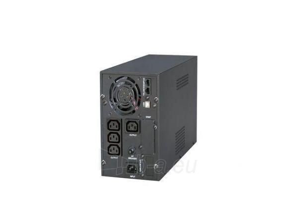 Maitinimo šaltinis UPS Energenie by Gembird 2000VA, Pure sine, 4x IEC 230V OUT, USB-BF, LCD Display Paveikslėlis 2 iš 6 310820010984