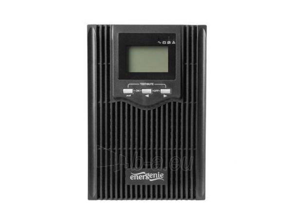 Maitinimo šaltinis UPS Energenie by Gembird 2000VA, Pure sine, 4x IEC 230V OUT, USB-BF, LCD Display Paveikslėlis 3 iš 6 310820010984