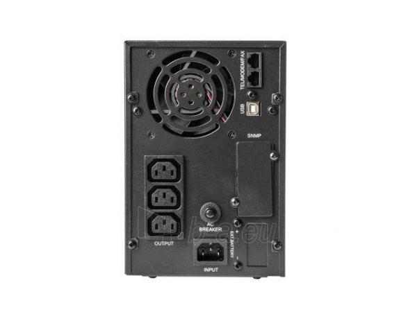 Maitinimo šaltinis UPS Energenie by Gembird 2000VA, Pure sine, 4x IEC 230V OUT, USB-BF, LCD Display Paveikslėlis 4 iš 6 310820010984