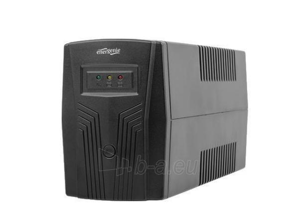 Maitinimo šaltinis UPS Energenie by Gembird 650 VA Basic 650 UPS, AVR, Shuko, juodas Paveikslėlis 1 iš 4 310820010953