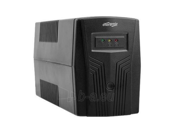 Maitinimo šaltinis UPS Energenie by Gembird 650 VA Basic 650 UPS, AVR, Shuko, juodas Paveikslėlis 2 iš 4 310820010953
