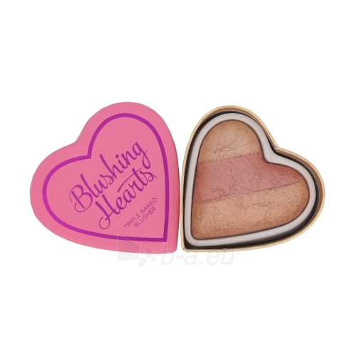 Makeup Revolution London Blushing Hearts Baked Blusher Cosmetic 10g Peachy Keen Heart Paveikslėlis 1 iš 1 250873400160