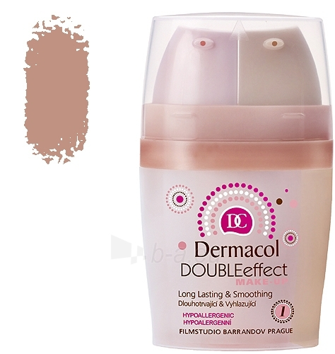 Dermacol Double Effect Make-Up 03 Cosmetic 30g Paveikslėlis 1 iš 1 250873100117