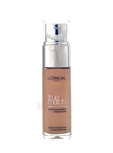 Makiažo pagrindas L´Oreal Paris True Match Super Blendable Foundation Cosmetic 30ml D7-W7 Golden Amber Paveikslėlis 1 iš 1 310820010823