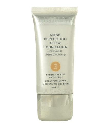 Makiažo pagrindas Lumene Nude Perfection Glow Foundation SPF15 Cosmetic 30ml Nr. 3 Fresh Apricot Paveikslėlis 1 iš 1 310820010840