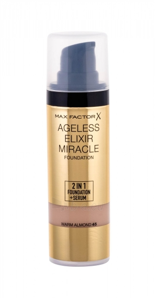 Makiažo pagrindas Max Factor Ageless Elixir 2v1 Foundation+Serum SPF15 30ml 45 Warm Almond Paveikslėlis 1 iš 1 250873100635