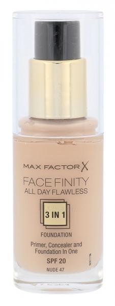 Makiažo pagrindas Max Factor Face Finity 3in1 Foundation SPF20 Cosmetic 30ml Nude Paveikslėlis 1 iš 1 250873100456