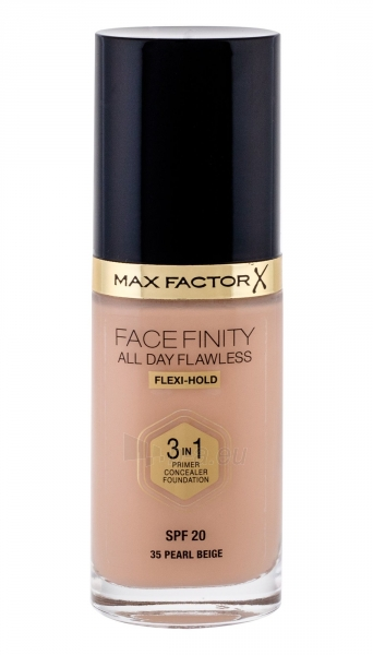 Makiažo pagrindas Max Factor Face Finity 3in1 Foundation SPF20 Cosmetic 30ml Pearl Beige Paveikslėlis 2 iš 2 250873100457