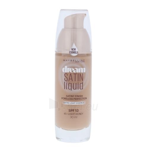 Makiažo pagrindas Maybelline Dream Satin Liquid Foundation SPF13 Cosmetic 30ml Shade 45 Light Honey Paveikslėlis 1 iš 1 310820024086
