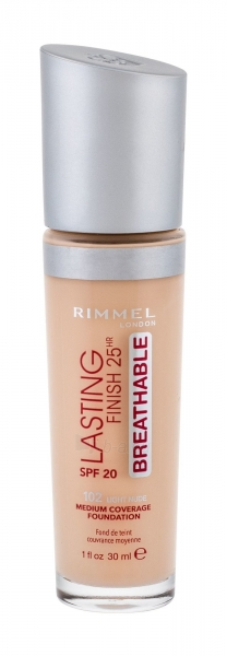 Makiažo pagrindas Rimmel London Lasting Finish 102 Light Nude Breathable Makeup 30ml 25HR SPF20 Paveikslėlis 2 iš 2 310820193960