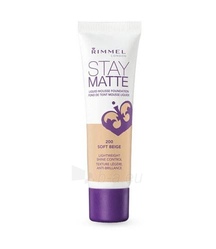 Makiažo pagrindas Rimmel London Stay Matte Liquid Mousse Foundation Cosmetic 30ml 200 Soft Beige Paveikslėlis 1 iš 1 250873100602