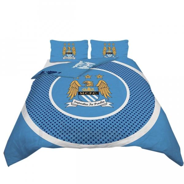 Manchester City F.C. dvigulės, dvipusės patalynės komplektas Paveikslėlis 1 iš 3 251009000653
