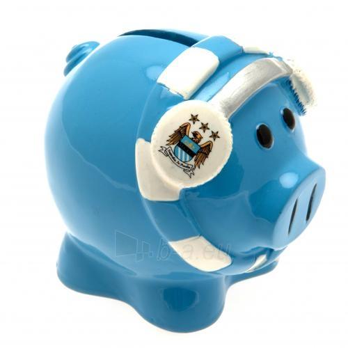 Manchester City F.C. kiaulė taupyklė (su šaliku) Paveikslėlis 3 iš 3 251009000674