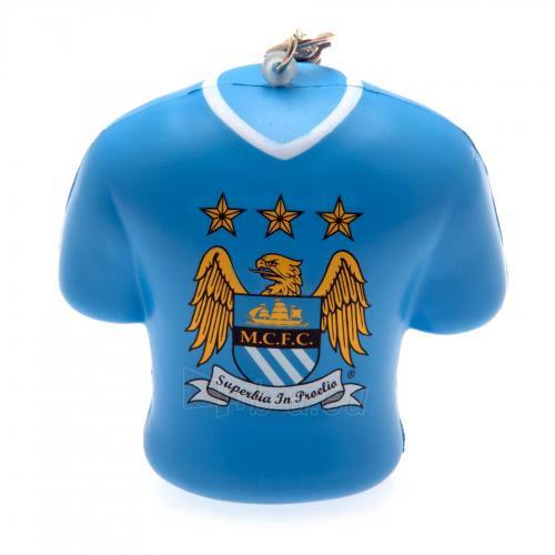 Manchester City F.C. minkštas marškinėlių formos raktų pakabukas Paveikslėlis 1 iš 4 251009000688