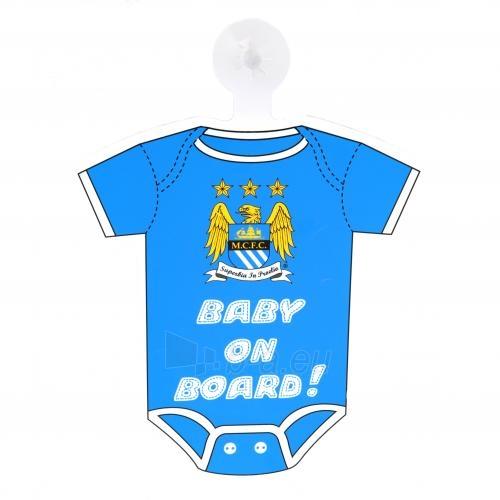 Manchester City F.C. pakabinamas Baby on board ženklas Paveikslėlis 1 iš 3 251009000692