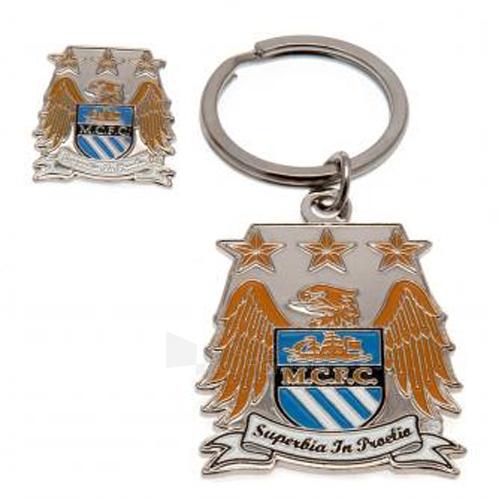 Manchester City F.C. raktų pakabuko ir ženklelio rinkinys Paveikslėlis 1 iš 3 251009000717