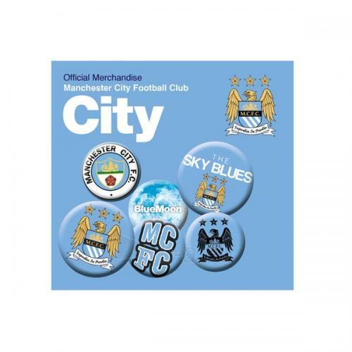Manchester City F.C. ženklelių rinkinys Paveikslėlis 1 iš 2 251009001084