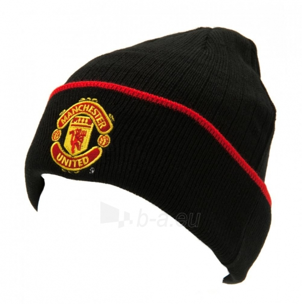 Manchester United F.C. atlenkta žieminė kepurė (Juoda) Paveikslėlis 1 iš 3 251009000756
