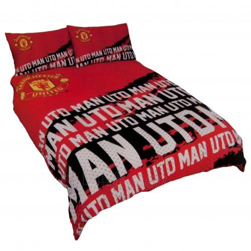 Manchester United F.C. dvigulės, dvipusės patalynės komplektas (su užrašu) Paveikslėlis 1 iš 4 251009001085