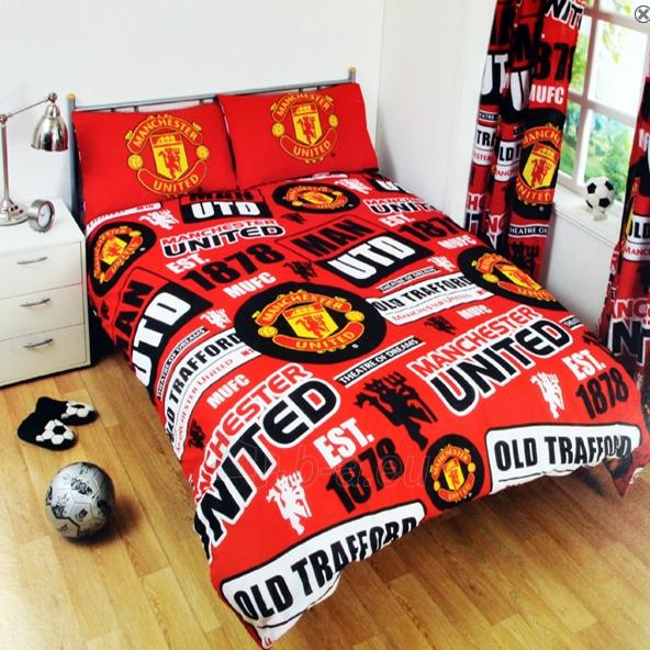 Manchester United F.C. dvigulės patalynės komplektas (Su pavadinimu) Paveikslėlis 1 iš 2 251009001531