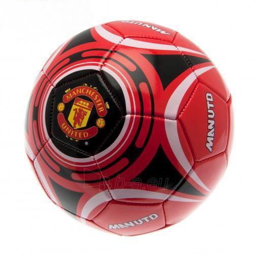 Manchester United F.C. futbolo kamuolys (Raudonas su baltais lankais) Paveikslėlis 1 iš 4 251009001600