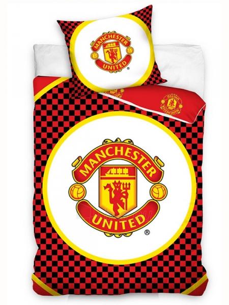Manchester United F.C. patalynės komplektas (Juodas šachmatinis) Paveikslėlis 1 iš 2 251009001586