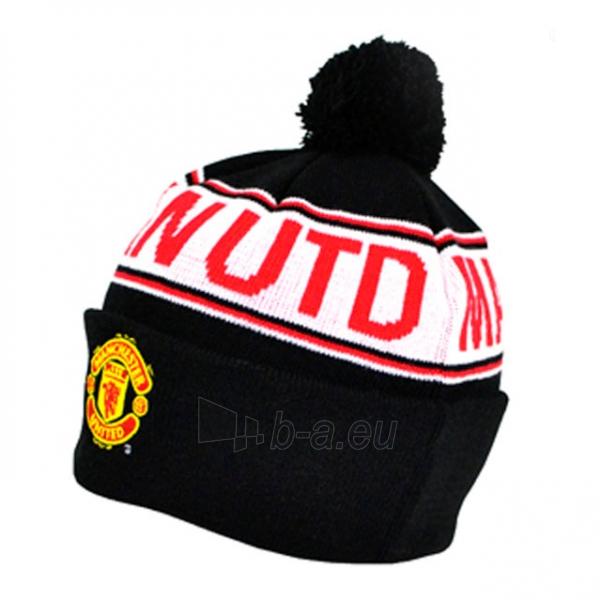 Manchester United F.C. žieminė kepurė su bumbulu ir tekstu (raudona) Paveikslėlis 1 iš 2 251009001326