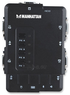 Manhattan 4-Port Compact KVM Switch, USB, Audio Paveikslėlis 2 iš 7 250257501455