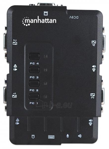 Manhattan 4-Port Compact KVM Switch, USB, Audio Paveikslėlis 5 iš 7 250257501455