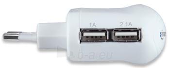 Manhattan didelės galios USB įkroviklis 2.1A, dvi jungtys, iPad, iPhone Paveikslėlis 2 iš 2 310820027148