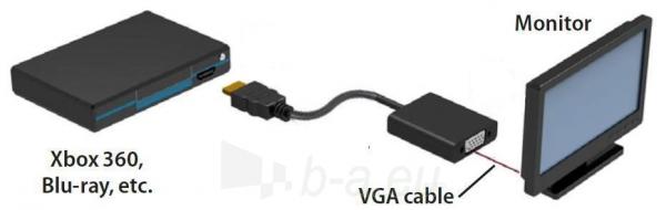 Manhattan HDMI male to VGA female converter Paveikslėlis 5 iš 6 250257501433