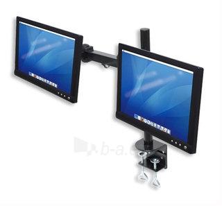Manhattan LCD Monitoriaus laikiklis  stalas dvigubai sujungtas Paveikslėlis 2 iš 5 250251300062