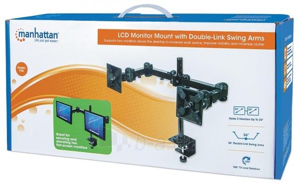 Manhattan LCD Monitoriaus laikiklis  stalas dvigubai sujungtas Paveikslėlis 5 iš 5 250251300062