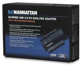 Manhattan USB 2.0 į SATA/IDE konverteris Paveikslėlis 4 iš 4 250255081464