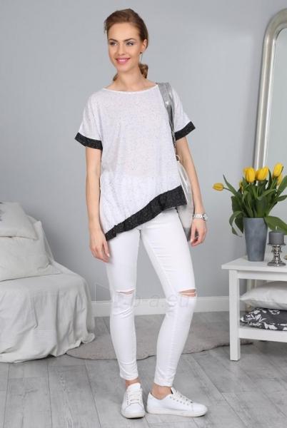 Marškinėliai Abigail (baltos spalvos) Paveikslėlis 1 iš 4 310820033939
