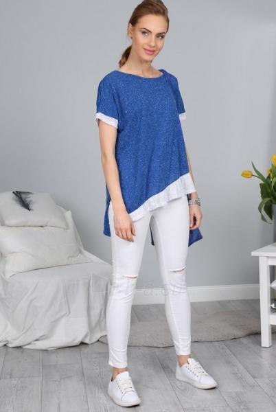 Marškinėliai Abigail (mėlynos spalvos) Paveikslėlis 1 iš 4 310820033945